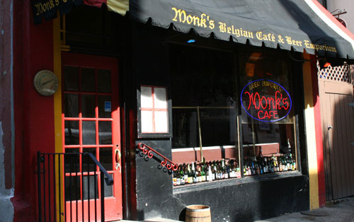Street view of  Monk's Cafe